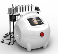 Hot Sale 6 big laser pads and 2 small pads Cavitation RF Lipo Laser exilis device fat breaking machine