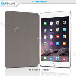 Ultra thin stand promotional leather case for ipad mini 3,various colors are available