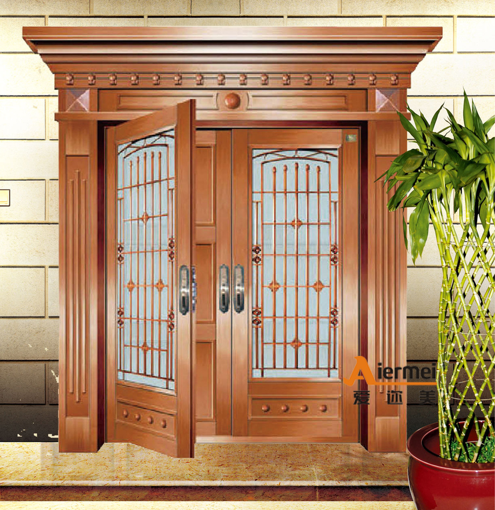2015 Fashioal Double Door Design Cooper Exterior Glass Door For Banquet Hall Buy Exterior