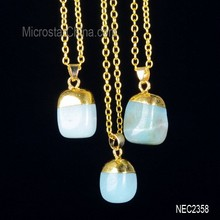 Wholesale high quality natural original gemstone pendant necklace