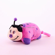 High quality custom kids light up plush bee toys with light and keyring