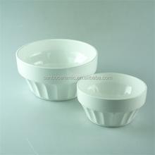 cheap ceramic big shape ramekin bowls plain white