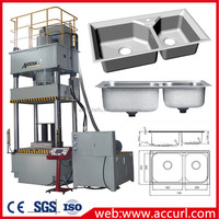 AccurL hydraulic deep drawing kitchen sinks machine for sale of 40t Hydraulic Press