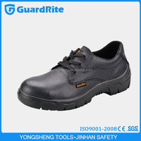 GuardRite Brand Cheap Black Safety Shoes Steel ,Wholesale Steel Black Safety Shoes