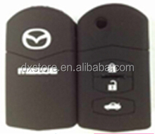 High quality 3 button silicone key cover for M2,M3,M5,M6,M8 key silicone car key cover for mazda