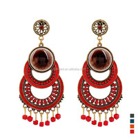 Fashion Low MOQ East Country Style Vintage Drop Earring With Tassel