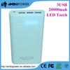 8pcs 18650 battery cells 3 usb outputs high capacity power pack 20800mah