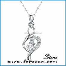 MAX-Wholesale 2015 Latest Fashion Special Design Pendant Necklace Chain Charm Woman 925 Sterling Silver Jewelry