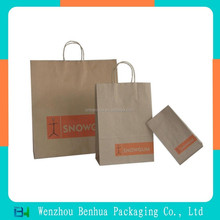 Plain cheap recycled kraft paper bags with handles brown paper bag