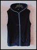 wholesale custom mens led hoodie vest/OEM 100%cotton EL zipper hoody