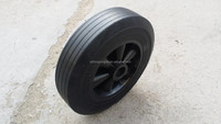 9inch solid rubber wheel used for air compressor and warehouse