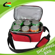 Promotional 6 Can Polyester Insulated Beer Cooler Bag