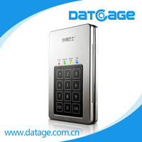 "Datage 2.5"" USB3.0 SATA-6G True AES-256bit Encrypted/Decrypted External HDD Drive"