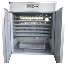 Big circulation fan 1056 eggs full automatic chicken egg incubator for sale