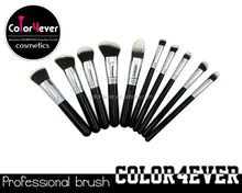 2015 new design best selling make up brushes 10 makeup shadows