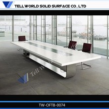 artificial stone office furniture aluminum conference table