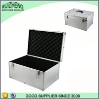 Strengthen Large Silver Metal Aluminum Tool Case With Compartments