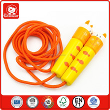 good quality promotion cheap china toys small toy children learning and do physical exercise stout wood handle rope skipping