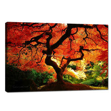 Red Tree Canvas Printing /Digital Canvas Art Prints/Natural Scenery Wall Picture
