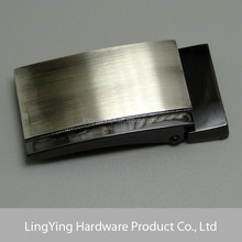 30mm Brushed gunmetal zinc alloy metal belt buckle manufacturer