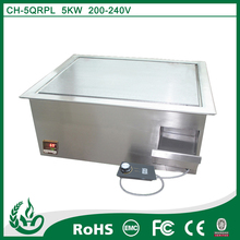 Corrosion resistant induction stone grill bbq