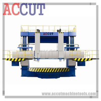 Conventional Manual Vertical Turret Turning Lathe Machine/Lathe Machine Vertical for sale with double column ACCUT C5225