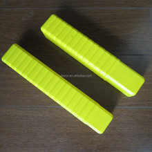 yellow PE rectangular drill bit box 50*50*260-480mm
