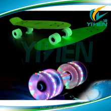 fish board CE approved glow in the dark led light skateboard