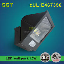 outdoor wall lighting 40W LED wall pack pass UL DLC 5 years warranty