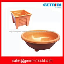 molde de injeção de fabricante de molde de China para vaso plástico quadrado