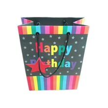 2015 wholesale new birthday/party paper gift bag with drawstring from china supplier
