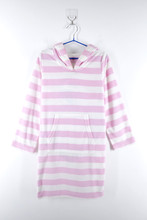 Girls Fresh Pink White Stripe Beach Dress