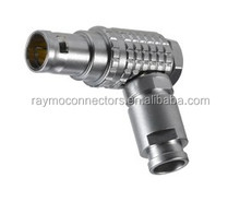 lemo FGG.1B.307 connector 90 degree lemo adaptor connector with cable assembly RS232 D-TAP USB RG58 RG59