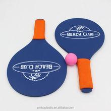 Wooden Plastic Beach Racket with EVA Handle