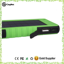 Hidden USB port waterproof Shockproof portable solar cell phone charger 8000mAh