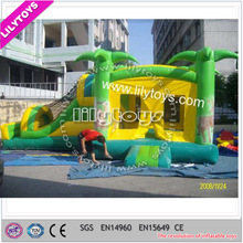 Coconut tree inflatable bouncer, inflatable slide for kids