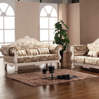 European style sofa fabric,solid wood carving antique sofa fabric,living room sofa fabric