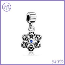925 Sterling Silver Dangle Charms with Crystal for Bracelets