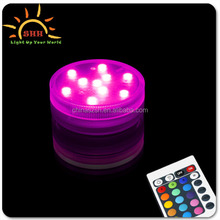 Super Bright Color Dual LED Submersible Floral Wedding Centerpiece Tea Light