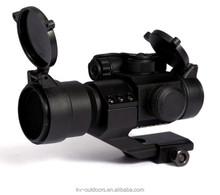 KV2-055 Comp M2 Type Red Dot Sight Scope With 4 Multi Reticle In 2 Colors Red & Green For Airsoft Free Oblique Arm Mount