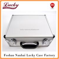 extra large aluminum flight case tools cameras music box pick and pluck foam new