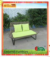 Leisure outdoor rattan furniture lover seat, popular fashion style hot sell!