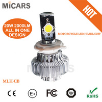 Motor accessories high power led motorcycle light 20W 2000LM
