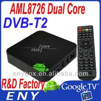 Amlogic-8726 xbmc full hd 1080p android tv box with hd dvb-t combo dvb t2