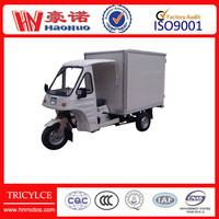ice cream tricycle with cargo containers