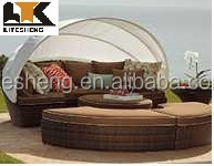 Rattan Outdoor Furniture Bed Rattan Round Sofa Bed Outdoor Rattan Bed