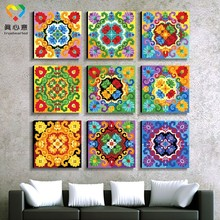 wholesale art and craft supplies mandala throw painting art craft models