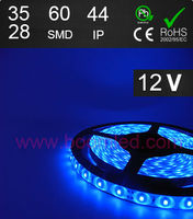 60SMD LED light IP44 led strip light FL3528 led strip bule color led strip 12VDC led strip
