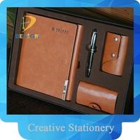 2015 new design custom PU loose-leaf notebook with pen