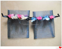 Factory directly supply 4x6 inch TOP quality decorated organza pouch